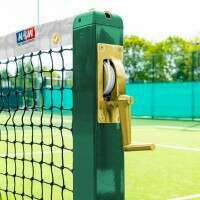 2mm Tennis Net & Square Posts with Ground Anchor