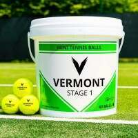 Vermont Mini Green Tennis Balls [Stage 1] - 60 Ball Bucket