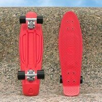 VICI Cruiser Skateboard [22in] - Red & Black [Skateboard Only]
