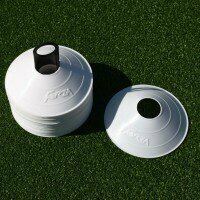50 FORZA Rugby Training Marker Cones [White]