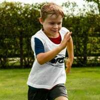 [15 Pack] White FORZA Pro Football Training Bibs/Vests [Kids]