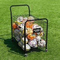 Portable Ball Cage & Equipment Cart Trolley [40 Balls]