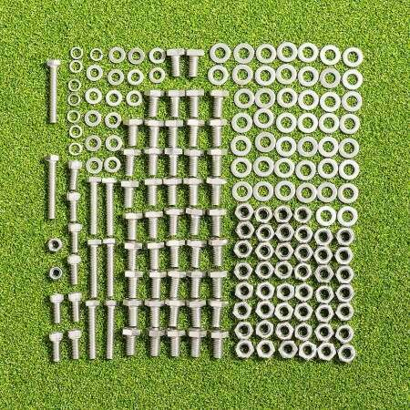 Nuts And Bolts Packs For FORZA Alu110 Freestanding Goals (All Sizes)