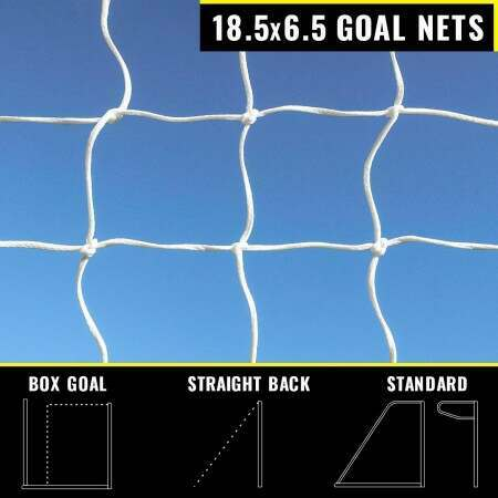 18.5 x 6.5 Replacement Football Goal Nets