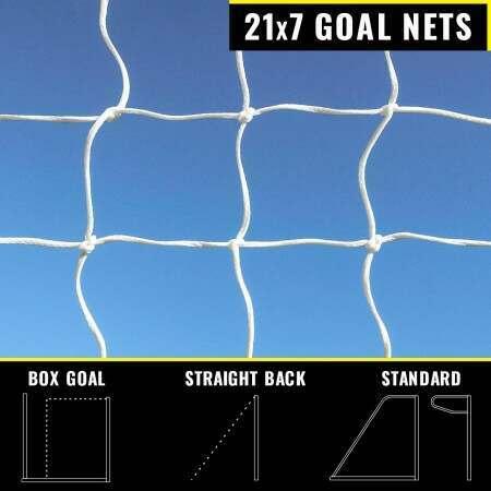 21 x 7 Replacement Football Goal Nets