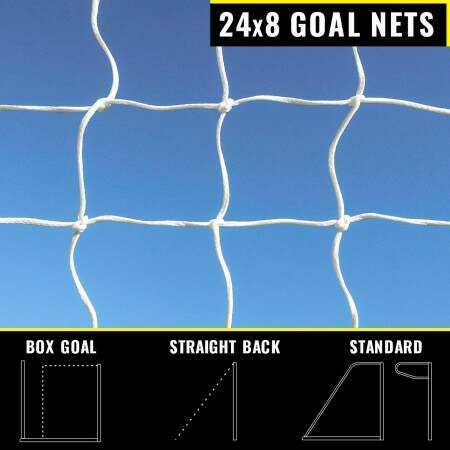 24 x 8 Replacement Soccer Goal Nets