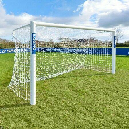 10 x 6.5 FORZA Alu110 Socketed Futsal (3m x 2m) Soccer Goal