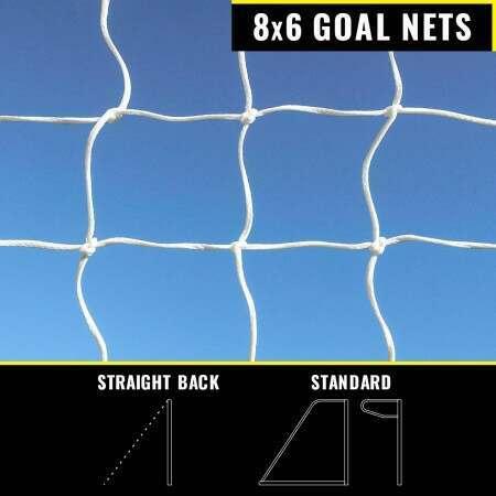 8 x 6 Replacement Football Goal Nets