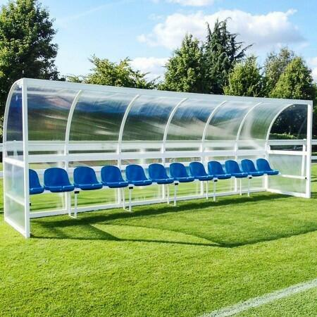Aluminium Soccer Team Shelter [Bucket Seats]