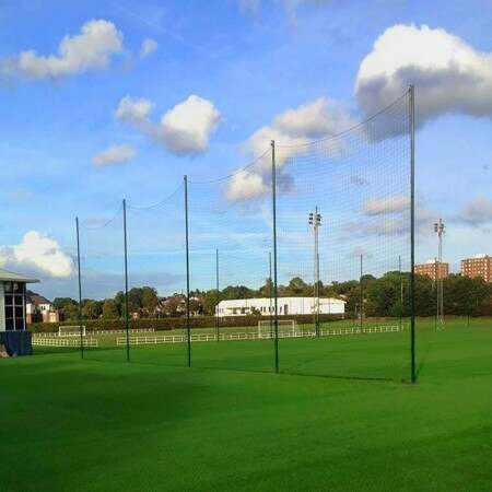 Ball Stop Net & Post System [12ft/20ft High - Removable]