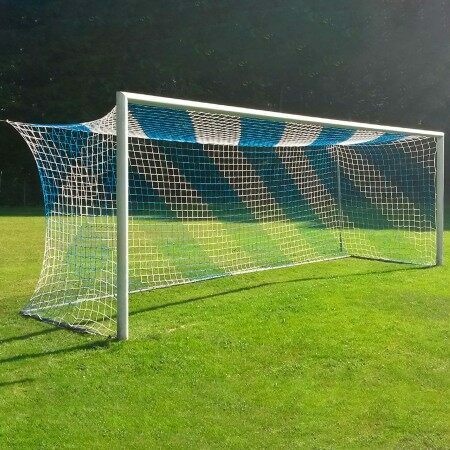 5mm Striped Stadium/Box Soccer Nets [3x Colour Options]