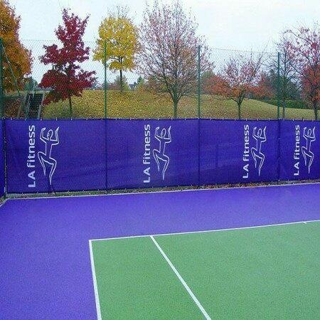 Custom Size & Print Tennis Windbreaks & Privacy Screens