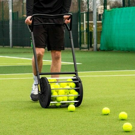 Tennis Ball Roller Mower & Hopper