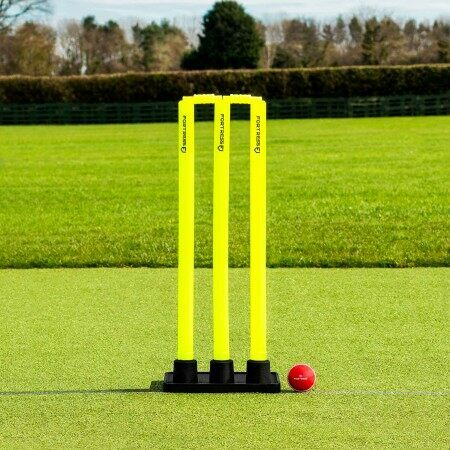 FORTRESS Rubber Base Cricket Stumps [Flexi Stumps]