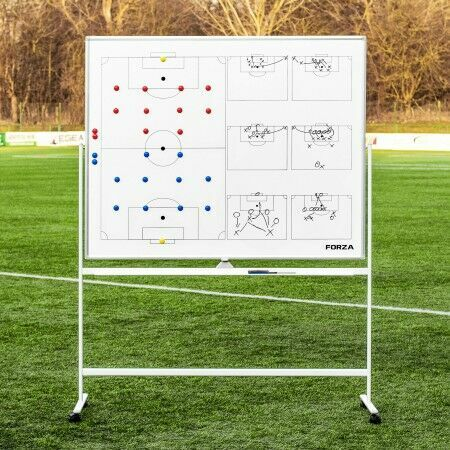 FORZA 150cm x 120cm Double-Sided Wheeled Football Coaching Whiteboard