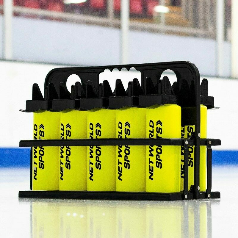 10 Ice Hockey Hygiene Water Bottles and Carrier (1L)