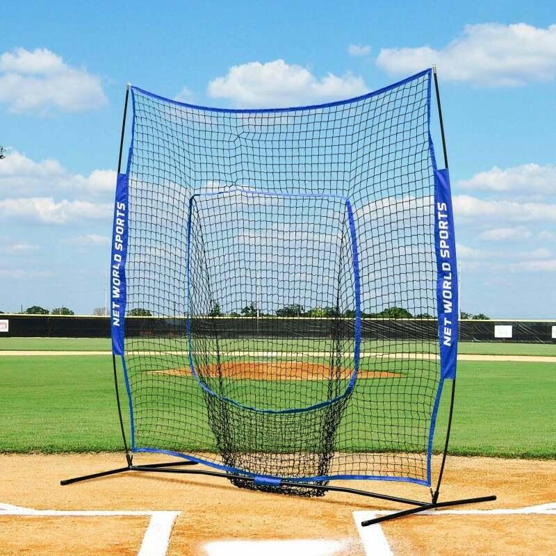 Baseball Nets And Pitching Screens   Steel Base With Fiberglass Net Supports   Net World Sports