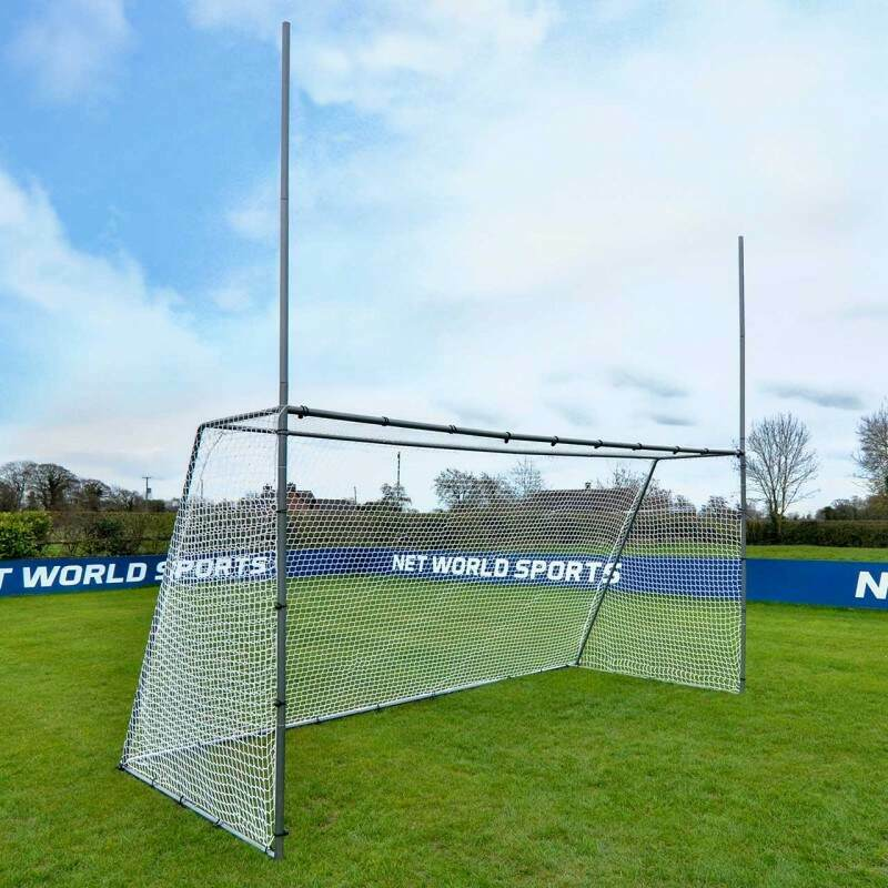 Galvanised Steel GAA Gaelic Football & Hurling Garden Goal | Net World Sports