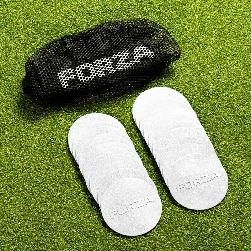 FORZA Mini Flat Disc Markers | 20 Pack | Training Equipment | FORZA UK