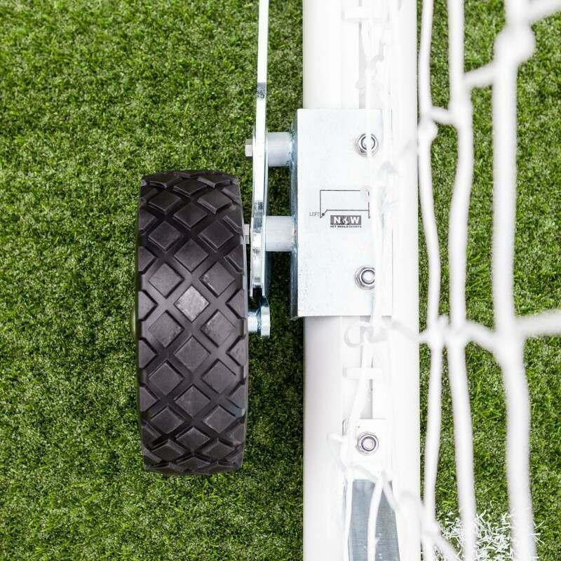 Black Rubber Football Goal Wheels