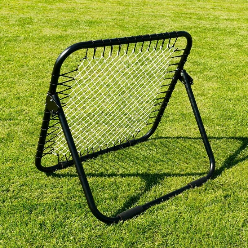 Single Sided Rebounder For Shooting Training Drills | Spring-Loaded Rebound Net For Football