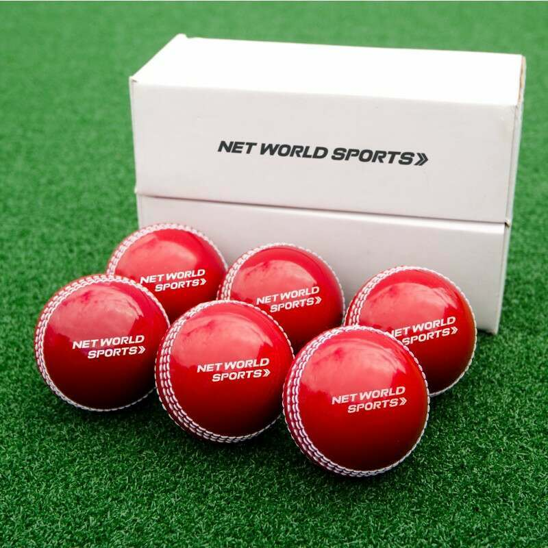 Box Of 6 Traditional Red Practice Cricket Balls | Net World Sports