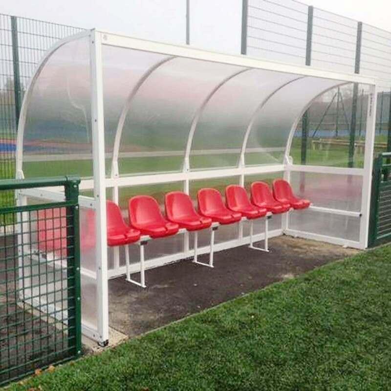 Aluminium Team Shelter Bucket Seats In Red