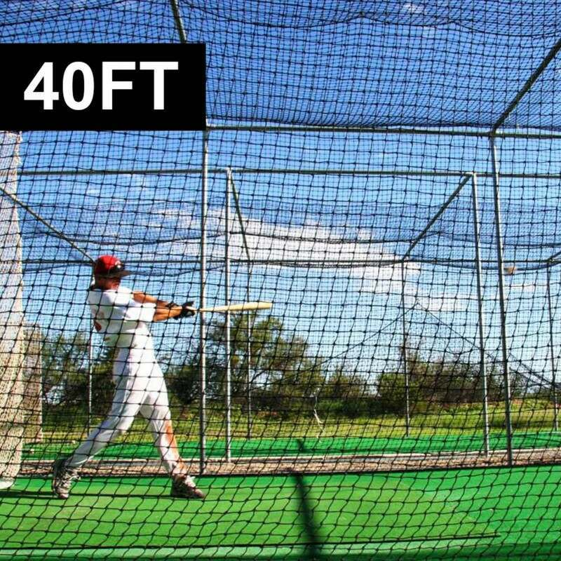 2 Piece 40ft Baseball Batting Cage Nets