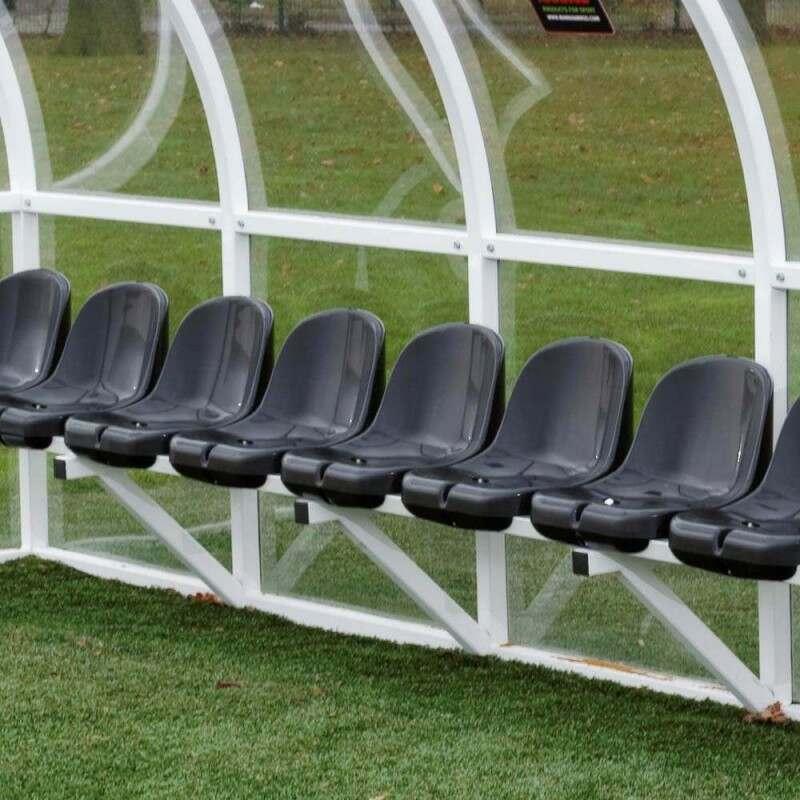 Aluminium Team Shelter Bucket Seats In Black