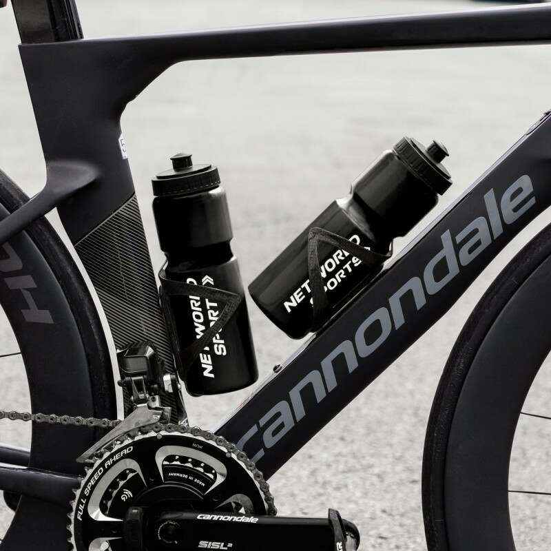 Gray Cycling Water Bottles