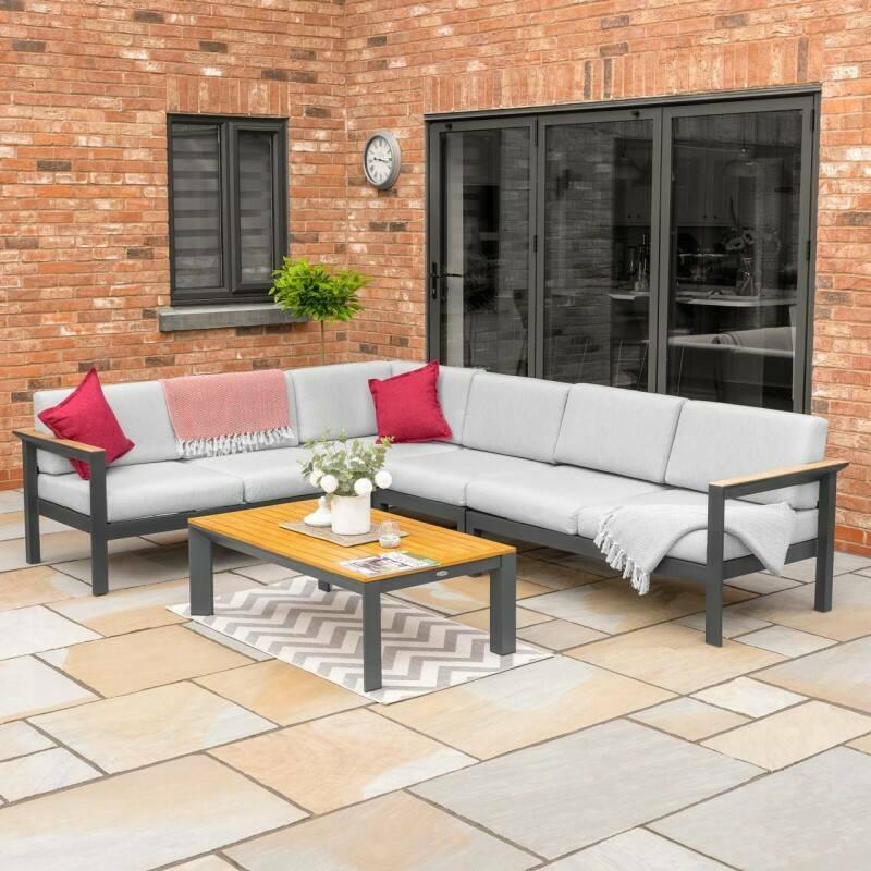 Harrier Corner Sofa & Table Set [5/6 Seater] | Net World Sports