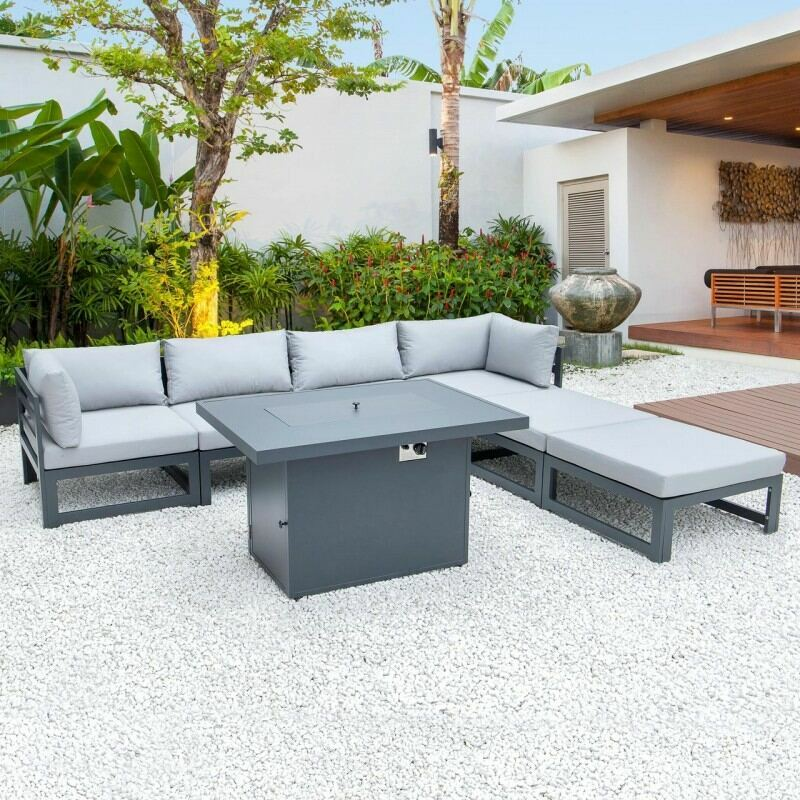 Harrier Alu Sofa Set (4 Seats + 2 Ottomans) | Net World Sports