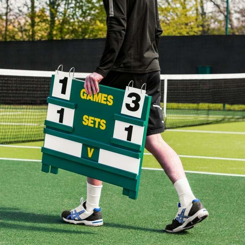 Portable Wooden Tennis Scoreboard   Net World Sports