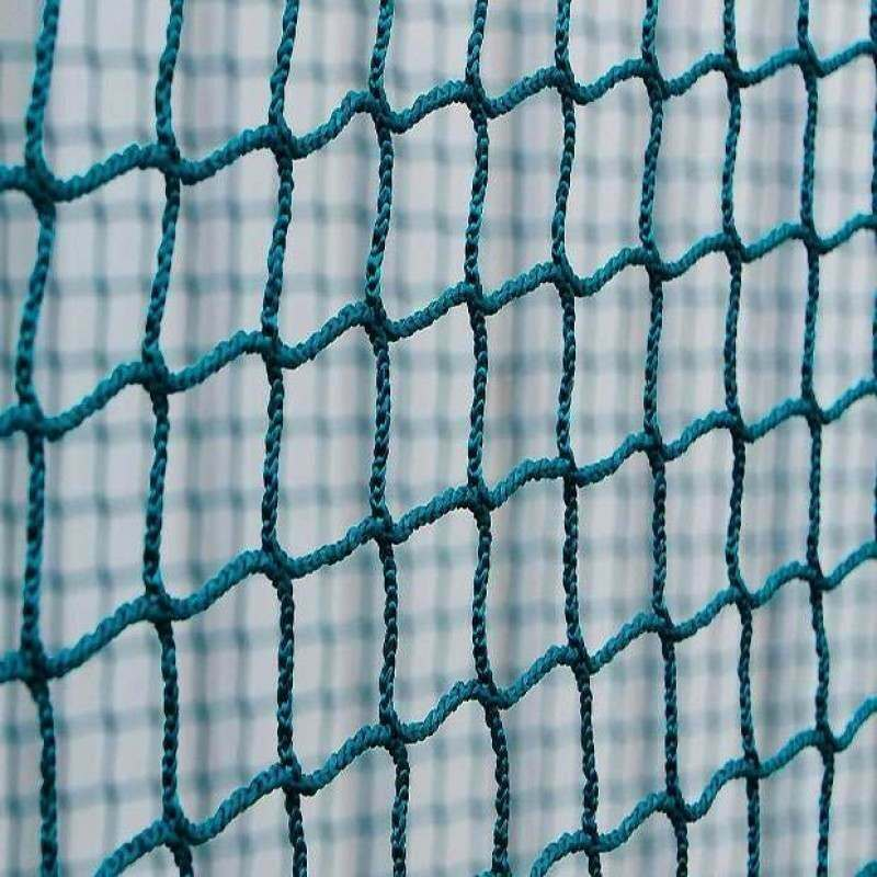 Green Braided Hockey Goal Nets