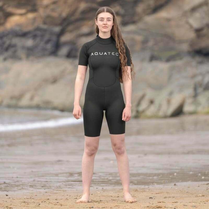 AquaTec 2mm Shorty Women's Wetsuit | Net World Sports