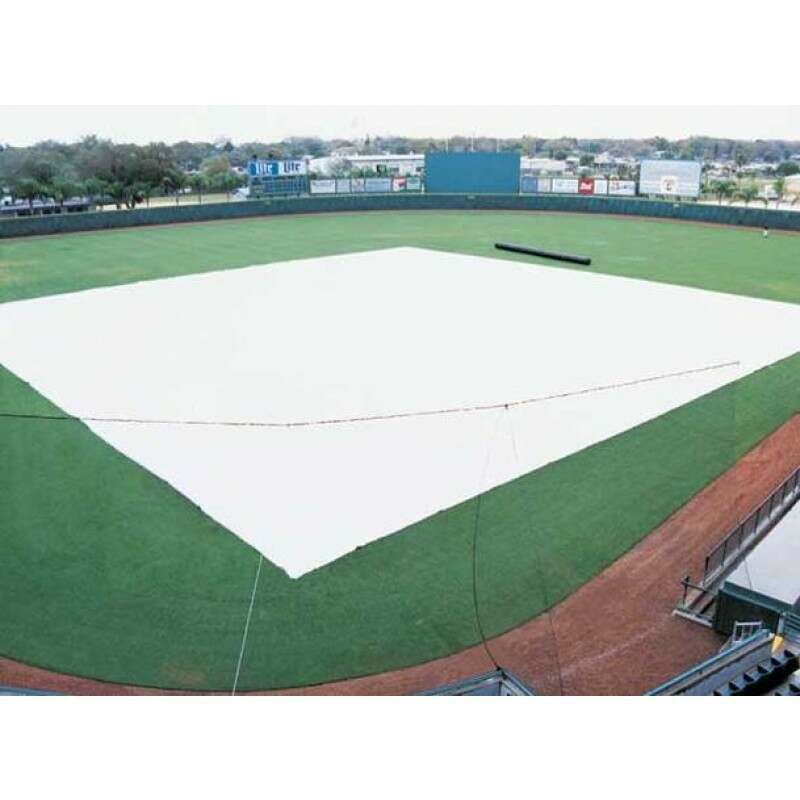 Professional Grade Baseball Field Tarp Cover - Various Sizes