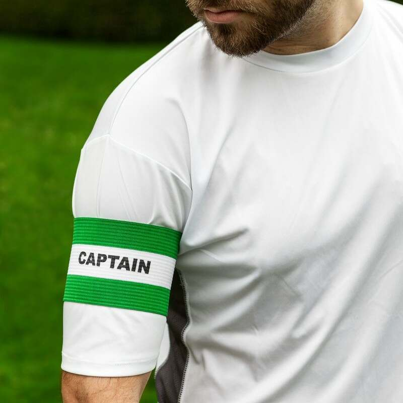 Green Captains Armbands for adults, men, women.