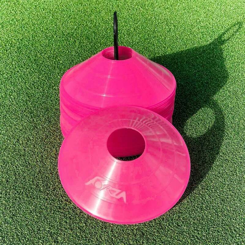 Pink Training Marker Cones For Pitch Markings
