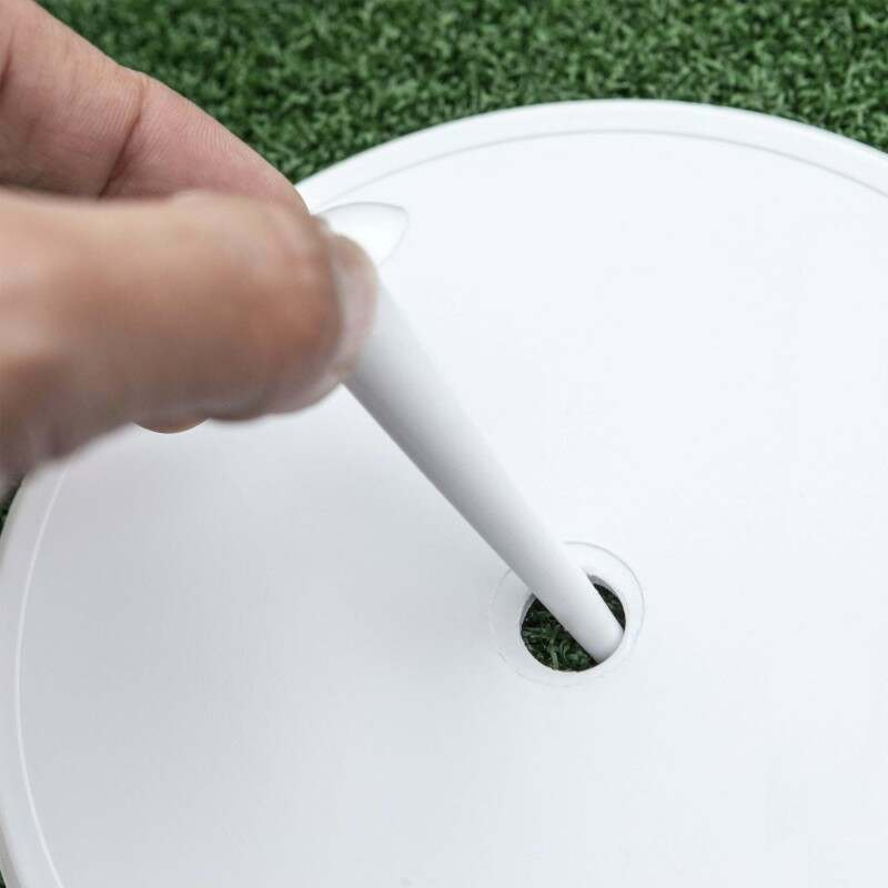 Pack Of 25 White Plastic Circle Marker Discs For Cricket