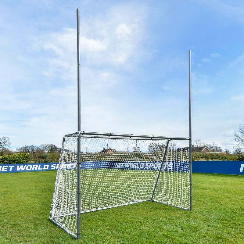 Galvanised Steel GAA Gaelic Football Goal For The Garden | Net World Sports