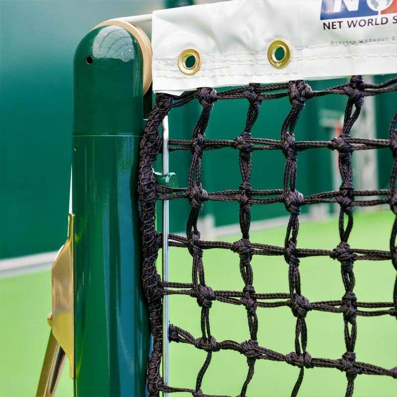 Double Top Singles Tennis Net   Universal Fit To All Standard Tennis Posts   Net World Sports