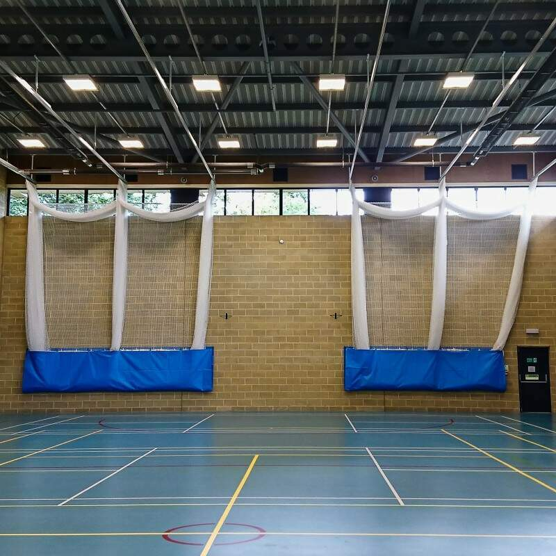Indoor Cricket Nets With Canvas Inlays