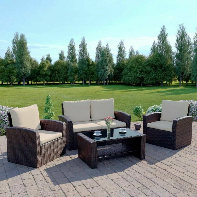Harrier Rattan Garden Sofa & Table Set | Net World Sports
