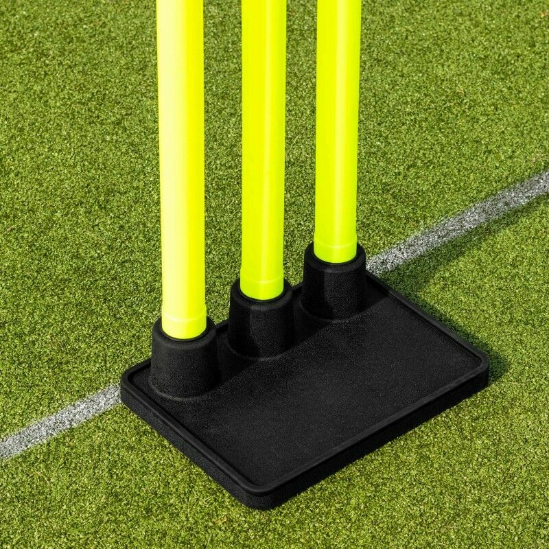 Portable Cricket Stumps With Heavy Duty Rubber Base | Net World Sports
