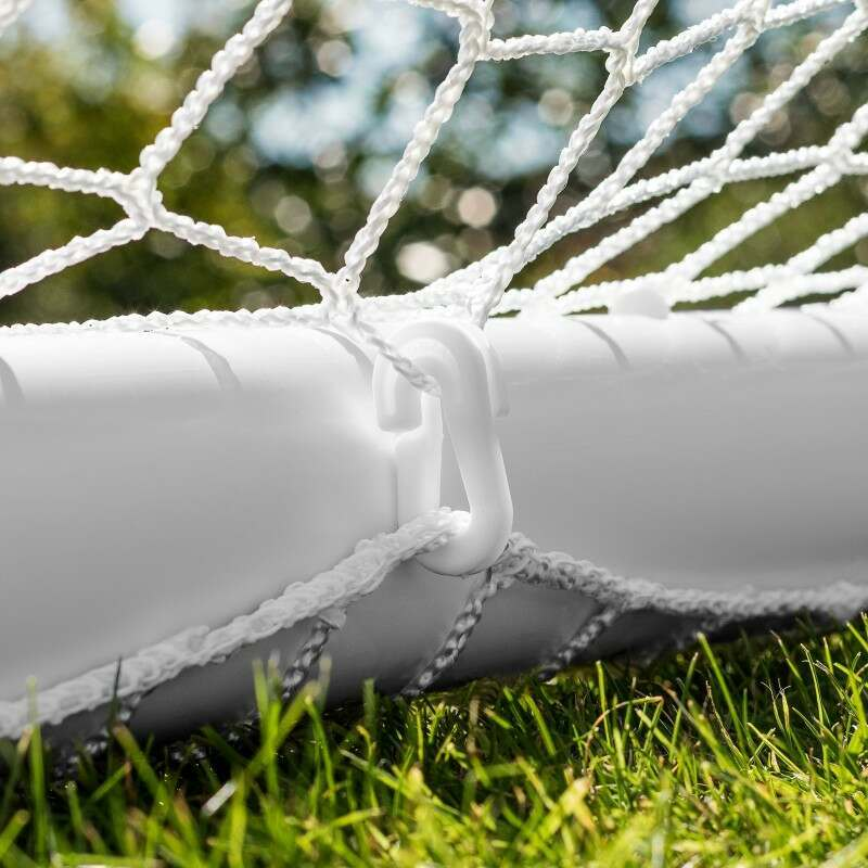 PVC Garden Backyard Goal Posts With Net Clips & Steel U-Pegs Included | Net World Sports