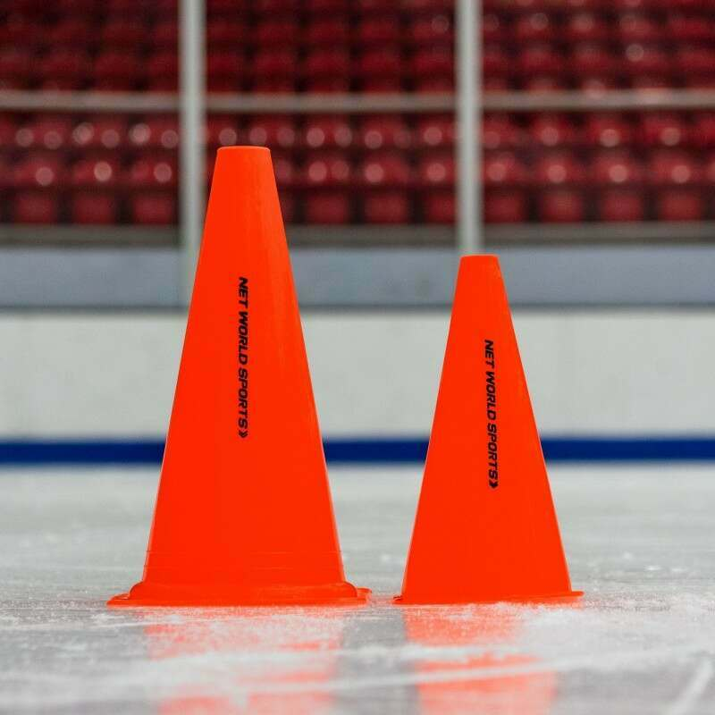 High Visibility Marker Cones for Ice Hockey