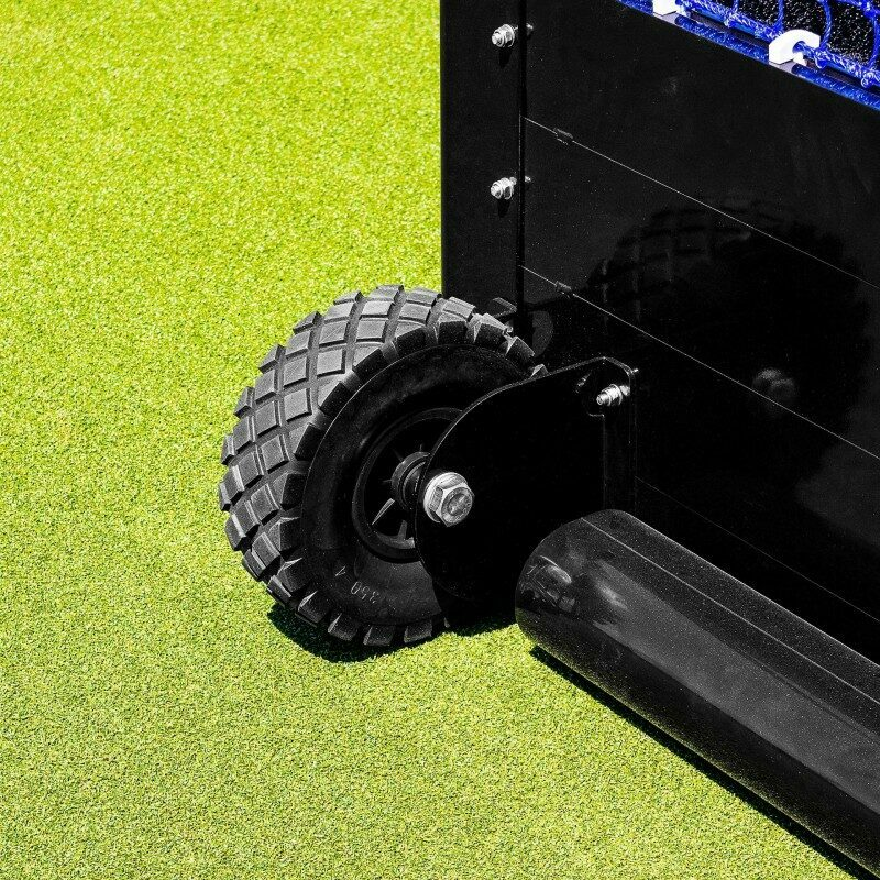Black Rubber Hockey Goal Wheels