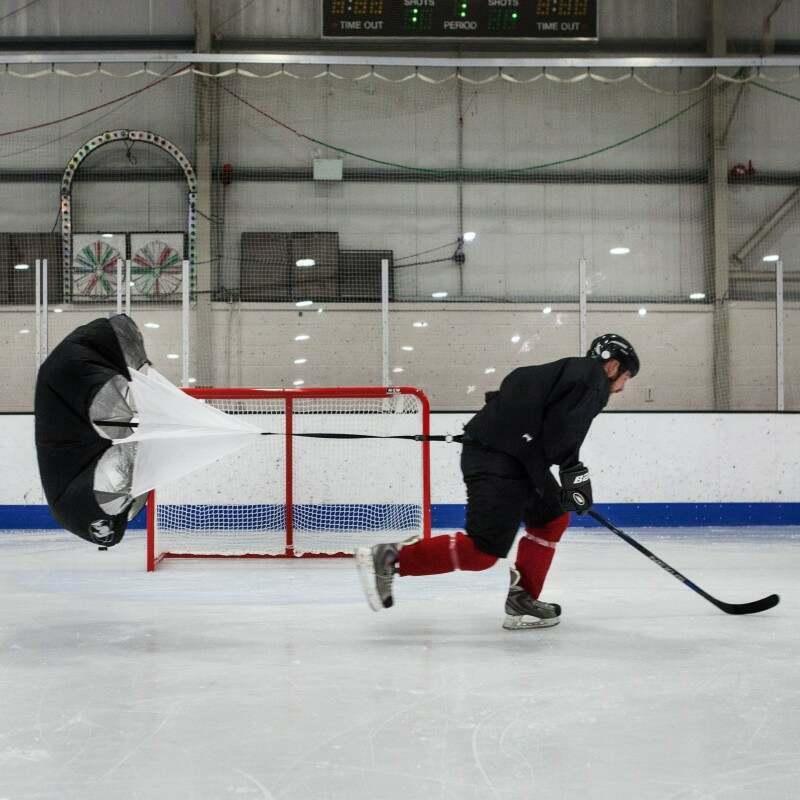 Ice Hockey Speed Chute Training