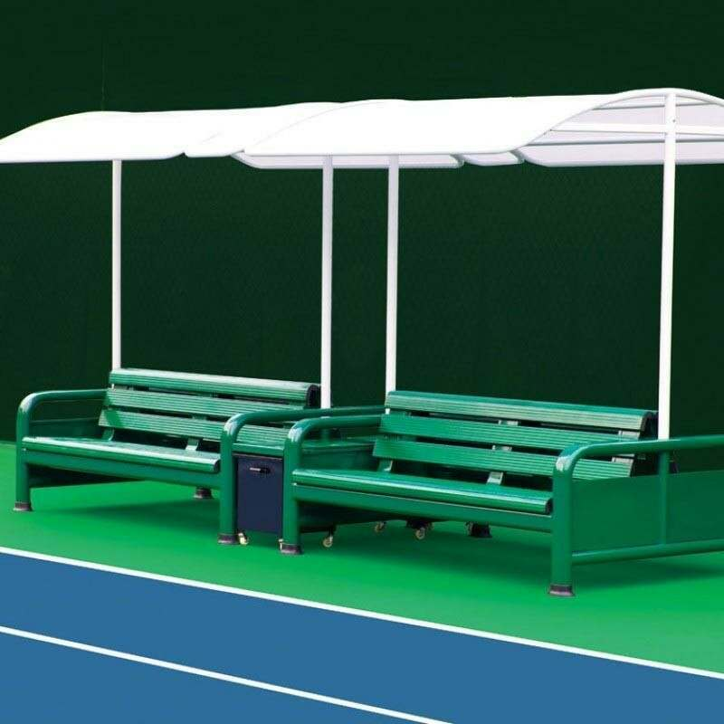 Professional Tennis Court Benches With Canopy | Net World Sports