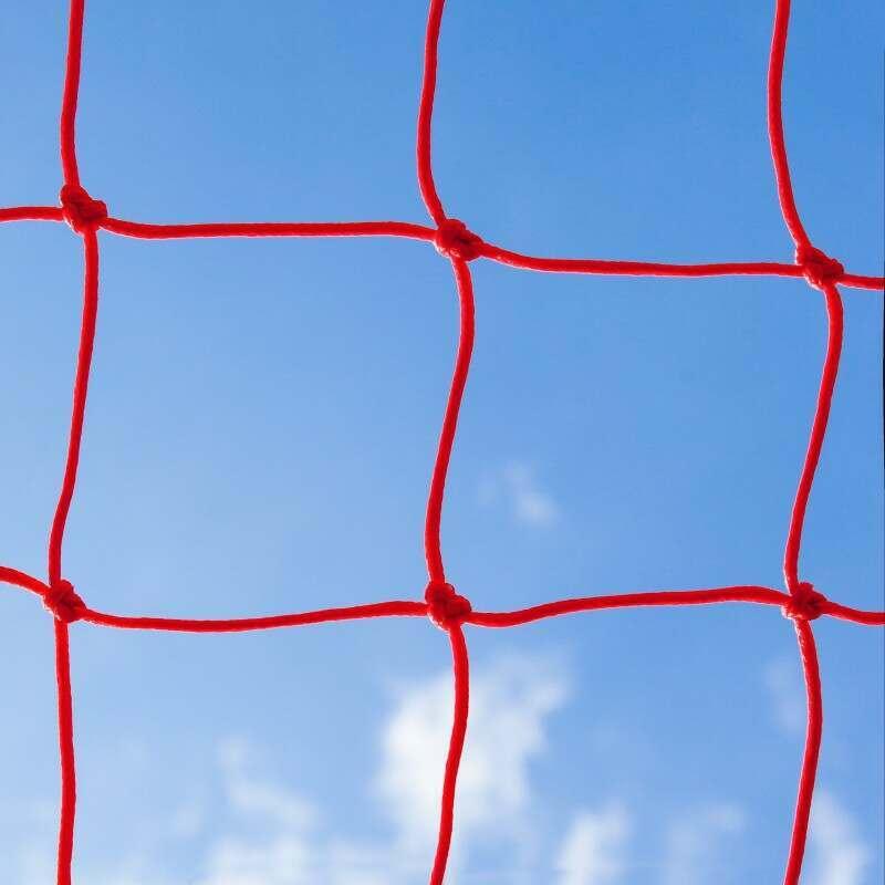 Red Braided Football Stadium Goal Net